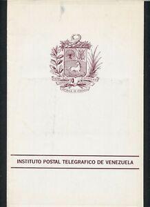 Venezuela 1992 Montevideo Upaep Congress Ufficiale Libretto Come Mostrato III