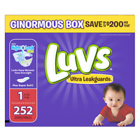 Diapers Newborn / Size 1 8-14 lb, 252 Count - Luvs Ultra Leakguards Disposable