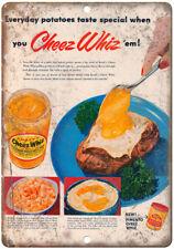"Kraft Cheez Whiz Vintage Ad 10"" X 7"" Reproduction Metal Sign N50"