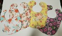 Handcrafted Baby Bibs/ Burp Cloths/ Personalization (Reversible), Shower, Birth