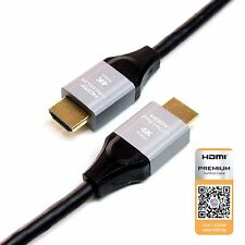 Premium HDMI Certified 2.0 Cable 3 Ft - 4K 60Hz HDR UltraHD 18Gbps Gold Plated