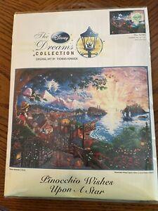 Thomas Kinkade Disney Cross Stitch Kit PINOCCHIO WISHES UPON A STAR #52501 NEW
