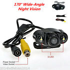 170° Wide-Angle 2LED Night Vision Waterproof Car Rear View Reverse Backup Camera