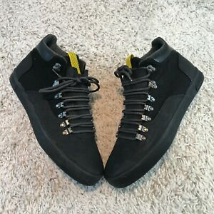 NEW ZARA Mens Shoes UK 11 Eur 45 Black Mid Top Trainers
