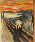 Edvard Munch the Scream Repro, Quality Hand Painted Oil Painting 8x10in