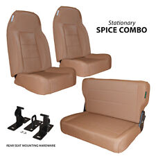 Black Mountain Jeep CJ Wrangler YJ 76-95 Complete Set Seat Spice Denim