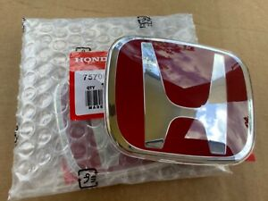 1xE01 Honda Civic Coupe Accord Fit HRV JDM RED H Type R Front Emblem badge logo