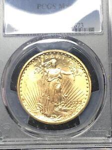 1922 $20 SAINT GAUDENS GOLD DOUBLE EAGLE PCGS MS63
