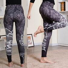 Women Lotus Yoga Fitness Running Leggings Gym Sports Stretch Pants Trousers
