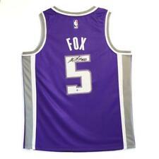 De'Aaron Fox Sacramento Kings Signed Basketball Jersey BAS COA 2 Autograph