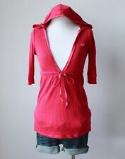 HOLLISTER Abercrombie Deep V Neck Hooded Hoodie Babydoll Knit Shirt Blouse Top S