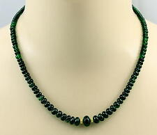 Tsavorit Kette grüne Granat Tsavorit Rondelle Halskette für Damen 48,5 cm