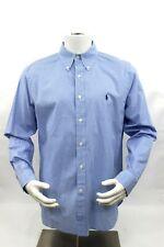 Polo Ralph Lauren Mens 16.5 Blue Checkered Long Sleeve Button Down Recent