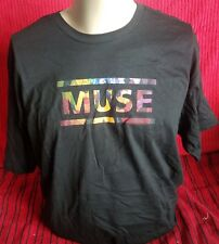 Muse - 100% Cotton T-Shirt - Extra Large - Black - NEW