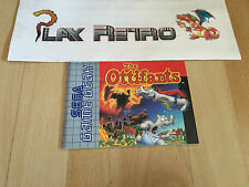 MANUAL SEGA GAME GEAR THE OTTIFANTS PAL EUR.