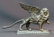 19ème bronze animalier Lion de venise 1.7kg23cm rare statuette sculpture déco