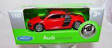 Welly Audi R8 rot in 1:60  Neu & OVP