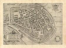 Antique Map-ARNHEM-NETHERLANDS-Guicciardini-1588