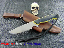 NWA / Nick Allen Muscrat Fighter / EDC Knife A2 High Carbon Steel W/ Leather