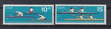 Timbres RDA 1966 WM kanurennsport Mi. Nº 1202+3 ** tamponné