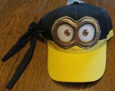 Despicable Me Minions Hat Baseball Cap OSFM Black Bandana Tie nwt