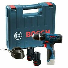 Bosch GSB 120 - LI Professional 12V With 2 x 1.5 Ah Batteries Charger Carry Case