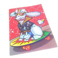 Vtg Lisa Frank Folder Skateboarding Poodle 1989 RARE 2 Pocket Unpunched 8494