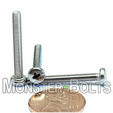 M3 x 25mm - Qty 10 - Stainless Steel Phillips Pan Head Machine Screws DIN 7985 A