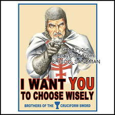 "Fridge Fun Refrigerator Magnet INDIANA JONES ""I WANT YOU TO CHOOSE WISELY"" Funny"