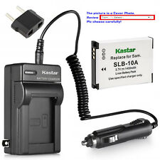 Kastar Battery AC Charger for Samsung SLB-10A & Samsung P800 P1000 PL50 Camera