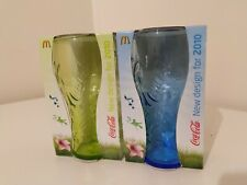 2 x McDonalds Coca Cola Coke Glasses Set - BRAND NEW