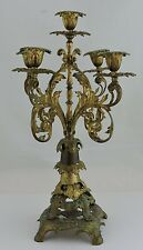 ANTIQUE 18TH CENTURY CANDELABRA GILT BRASS BAROQUE STYLE 5 ARMS ORNATE A