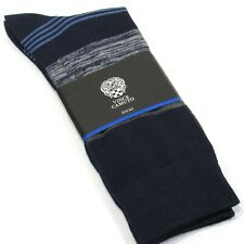VINCE CAMUTO Men's Dress Socks Multi Stripe Pattern Navy Blue One Size