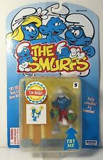 Irwin 1996 The Smurfs The Artist/Painter Sealed On The Card!