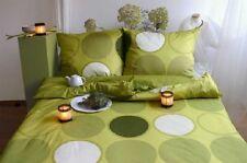 3 PCS. Mako ropa de cama satinada Blanco Verde Retro 155 cm x 200cm Diseño