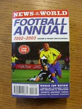 2002/2003 noticias del mundo: fútbol anual. toda falla con este artículo se ha