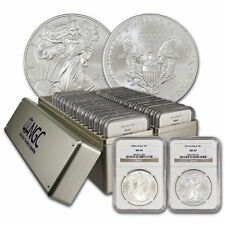 1986-2017 Silver American Eagle Set NGC (MS69) 2 NGC Boxes 32 coins total