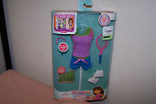 DORA EXPLORER SPORTS STYLE NIB DOLL CLOTHES TENNIS SOCCER MATTEL SECRET CODE AA!
