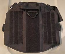 Tactical Dog harness K9 MOLLE Vest with Handle No Pulling Front Clip XL BLACK