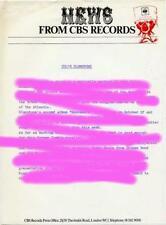 Colin Blunstone CBS Ennismore Press Release 1972