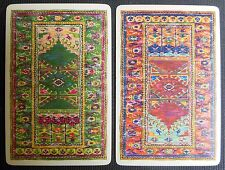 Orential Carpet Like Pattern-2 Antique Vintage Swap Playing Cards-Doll House Rug