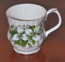 "Royal Albert ""Trillium"" Vintage Coffee Cup, White, Ontario Provincial Flower"