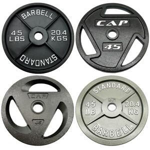 "New Barbell Olympic Weight 2"" Hole Plates 2.5lbs 5lbs 10lbs 25lbs 35lbs 45lbs"