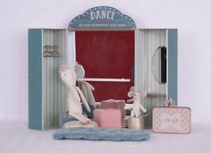 """Maileg Ballet School- Discontinued """"Ballerina Kitty"""" Included- Vintage"""
