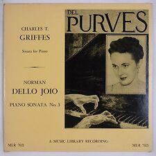 GRIFFES, JOIO: Piano Sonata DEL PURVES 50s Music Library LP Rare