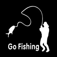 Decal Graphic Auto Go Fishing Car Sticker Decor