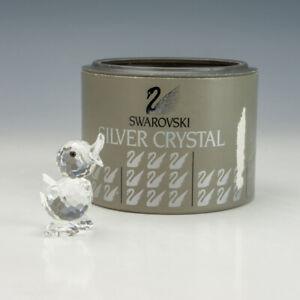 Vintage Swarovski Crystal Glass - Miniature Drake Duck Figure - Boxed!