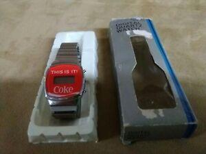 very rare digital quartz coca cola watch with original package very old ver