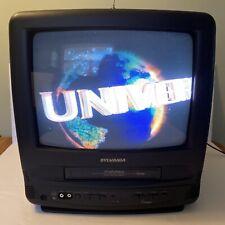 "Sylvania 13"" CRT TV Retro Gaming VCR VHS Combo Player Recorder SRC413AC"