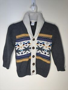 Gymboree  Boy's Button Front Cardigan Sweater, Size 4 New without tags